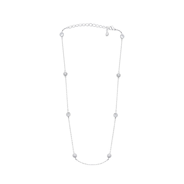 Silver Pavé Crystal Ball 'Susie' Necklace
