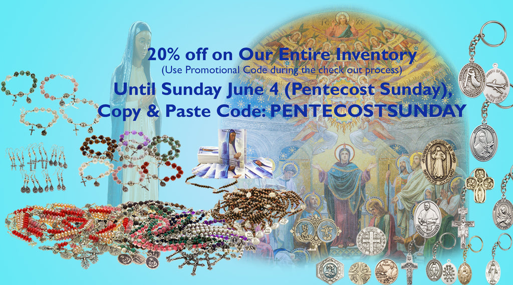 20% Discount Pentecost Sunday Promotion