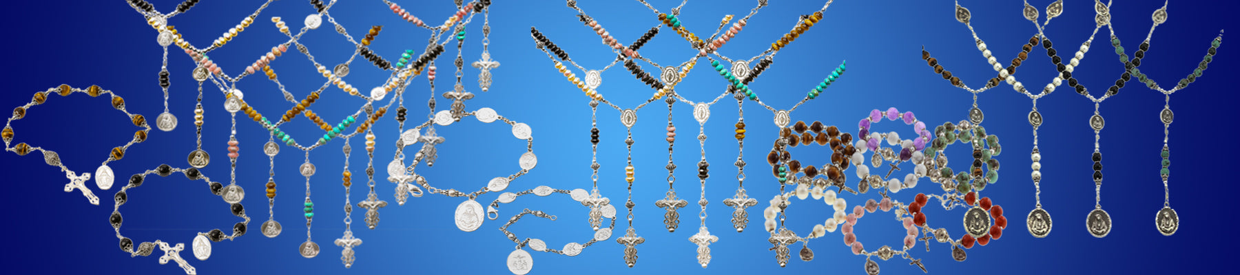 Our Sterling Silver Collection at 7 Sorrows Rosaries