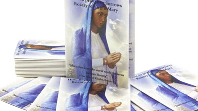 10 - 7 Sorrows Rosary Pocket Prayer Booklets