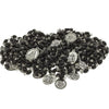 20 Black Wood Beads Chrome 7 Sorrows Rosaries