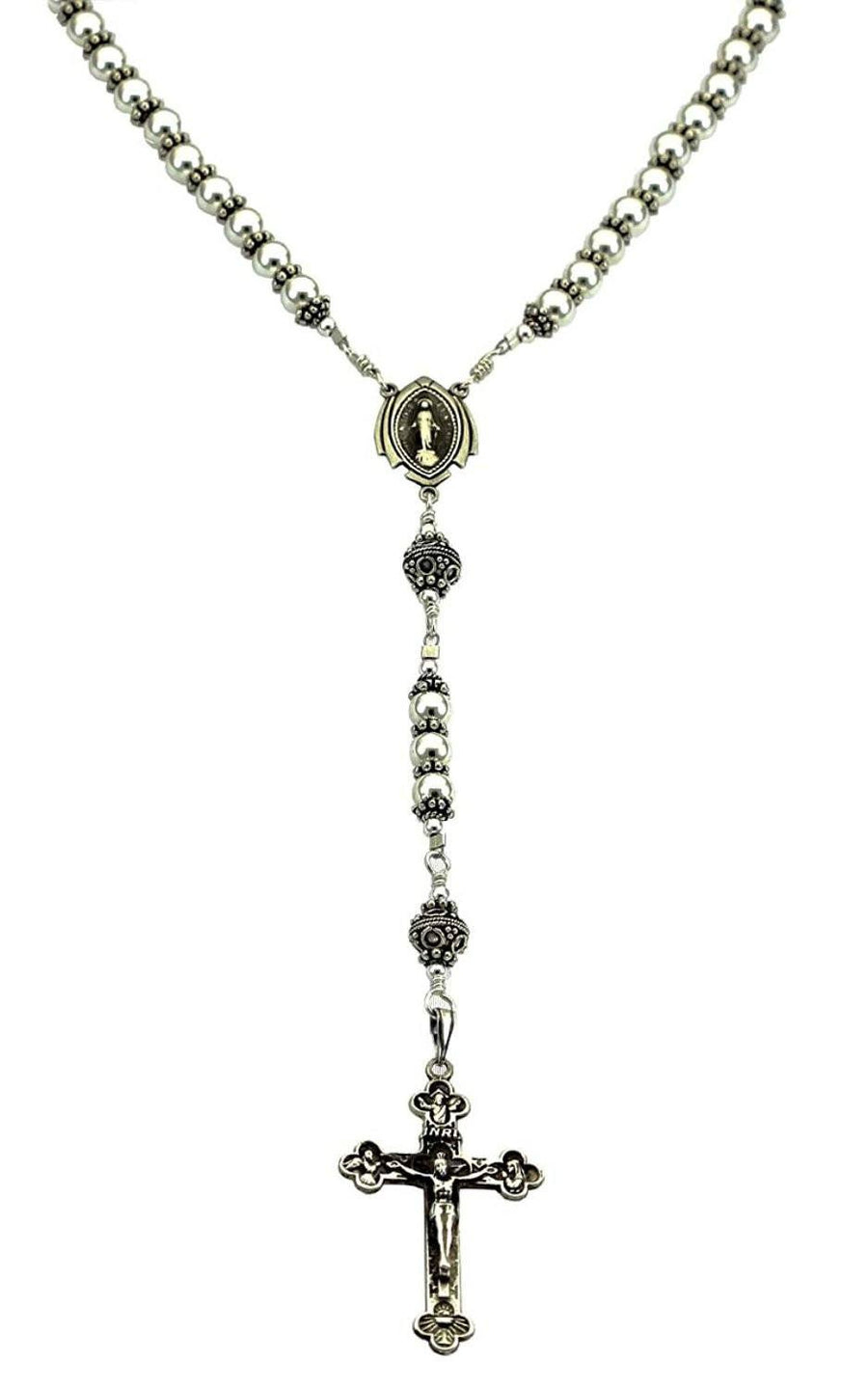 Sterling Silver Rosaries Necklace 7 Sorrows Rosaries