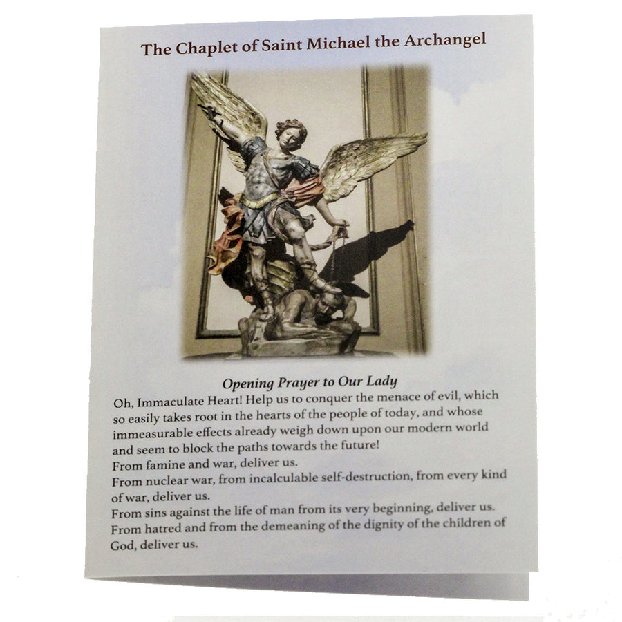 50 St Michael Chaplet Rosary Pocket Prayer Booklets