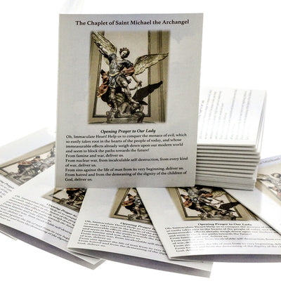 100 St Michael Chaplet Rosary Pocket Prayer Booklets