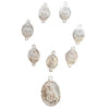 Sterling Silver 7 Sorrows of Mary Medal set Front Side