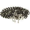 10 Black Wood Bead Rosary