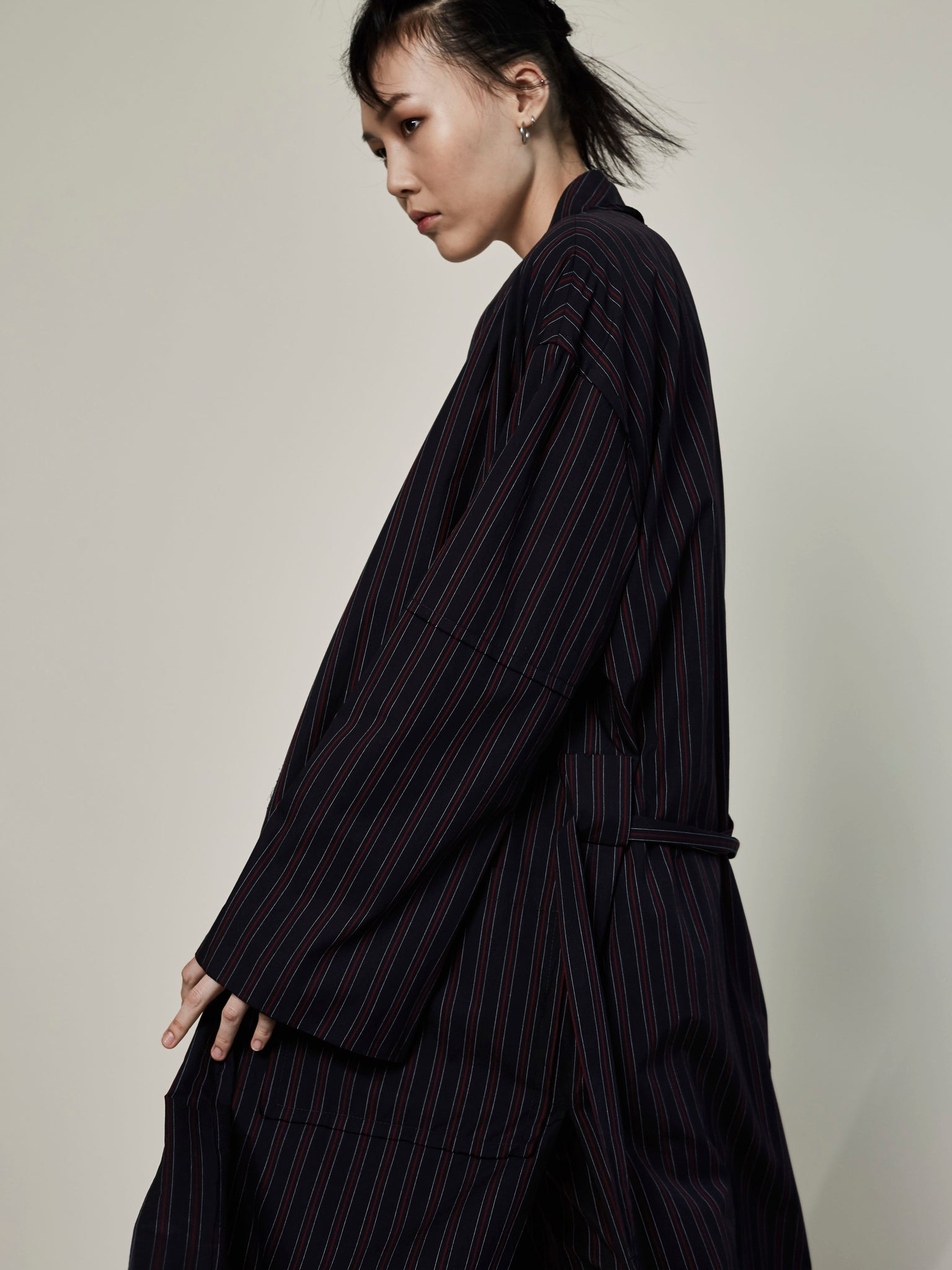 Reversible Stripe Robe