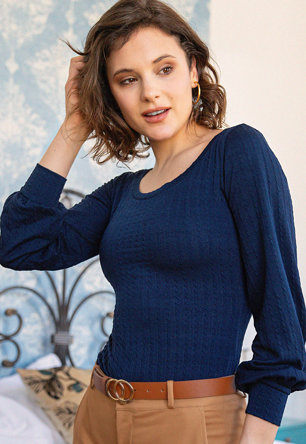 Top Denisse Blue