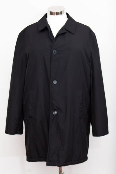 DKNY Long Black Button Up Coat (Very warm) - Size XL