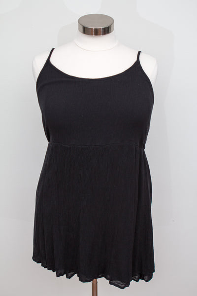 Forever 21 Black Spaghetti Strap Tunic Length Top - Size 3X