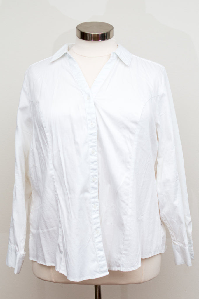 Lane Bryant Button Up White Top - Size 28