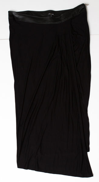 Lane Bryant 6th & Lane Black Maxi Skirt With Faux Leather Waist - Size 20