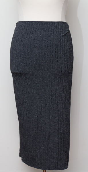 Chesley Charcoal Grey Maxi Skirt - Size 2X