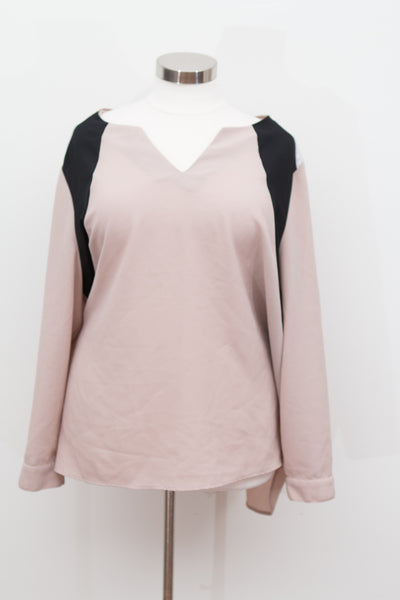 Lane Bryant - Tan & Black Career Top - Size 26/28