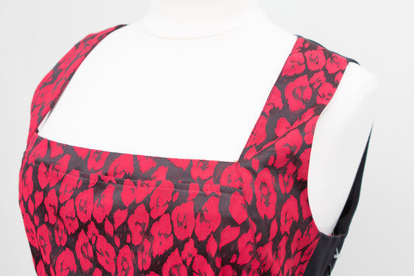 Lane Bryant Red and Black Square Neck Tank Top - Size 26