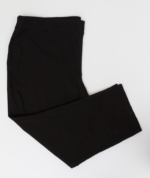 Avenue - Black Super Stretch Straight (Not Skinny) Dress Pants - Size 30 Average