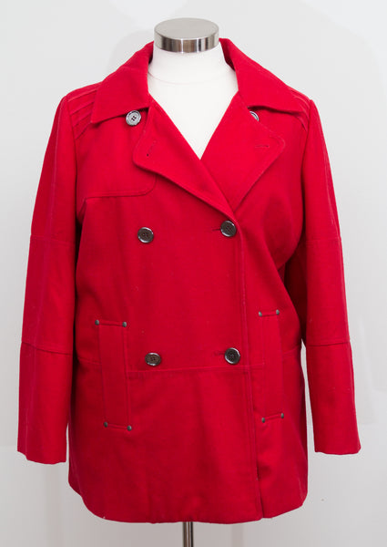 DKNY Red Peacoat - Size 20