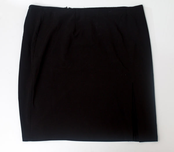 George Woman - Black Pencil Skirt With Front Slit - Size 24W