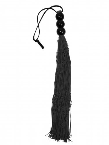 Medium Black Rubber Flogger