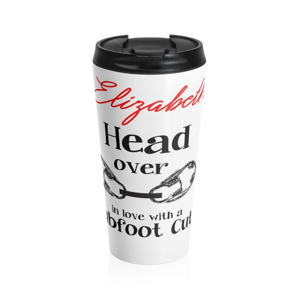 Head over boots in love with a Clubfoot Cutie - Stainless Steel Travel Mug | Customize me!