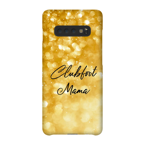 Clubfoot Mama - Gold Glitter - Phone Cases - LG/Samsung/Google/Huawei - Christmas 2019