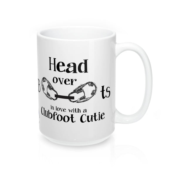 Head Over Boots In Love with A Clubfoot Cutie (TM) - Mug 15oz