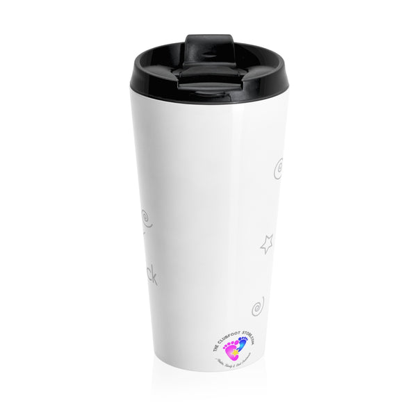 I love my Clubfoot Baby to the Moon & Back - Stainless Steel Travel Mug | Customize me!