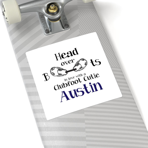 Head Over Boots in Love - Custom - Square Stickers