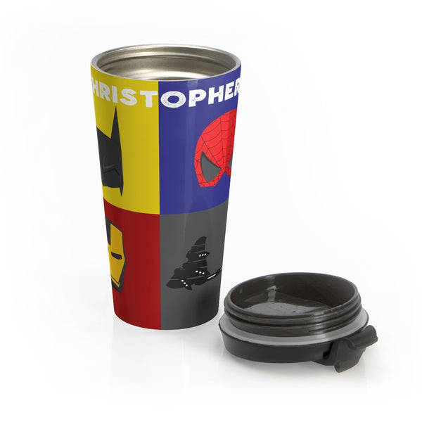 Superhero Boots & Bar Mug - Stainless Steel Travel Mug | Customize me!