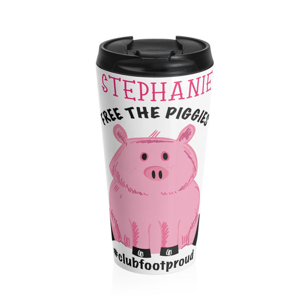 Free the Piggies - Custom - Stainless Steel Travel Mug
