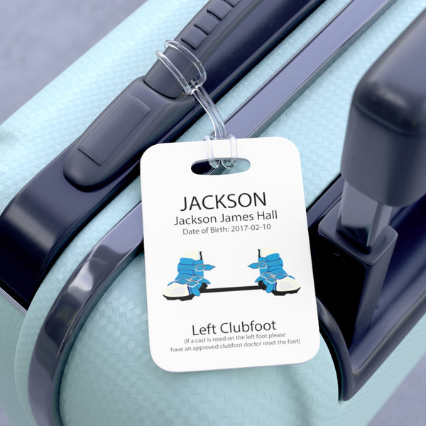 Blue BNB - Medical Stoller & Carseat or Wheelchair Tag