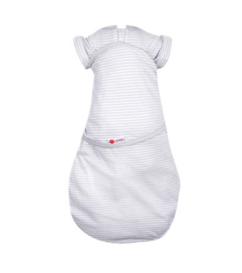 SWADDLEOUT 2-Way Swaddle (Grey Stripes)