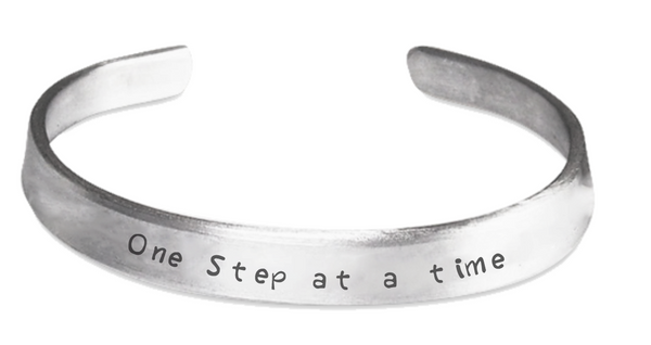 One Step at a Time - Stamped Clubfoot Awareness Bracelet