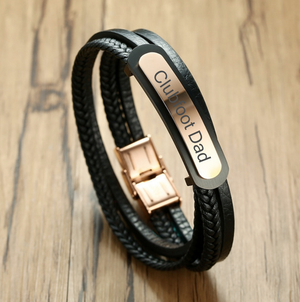 Clubfoot Dad | Engraved Men's Bracelet | Customize Me!