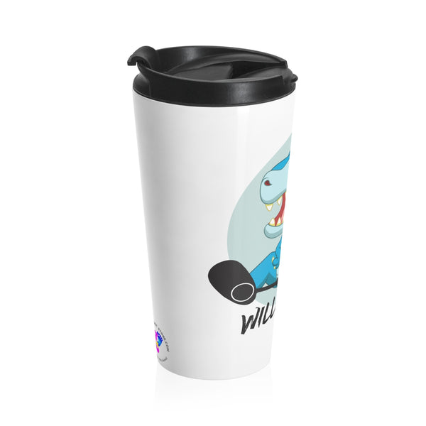 Clubfoot Dino - Blue -  Stainless Steel Travel Mug | Customize me!