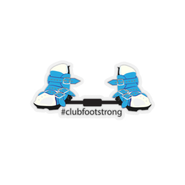 BNB Blue ClubfootStrong - Kiss-Cut Stickers