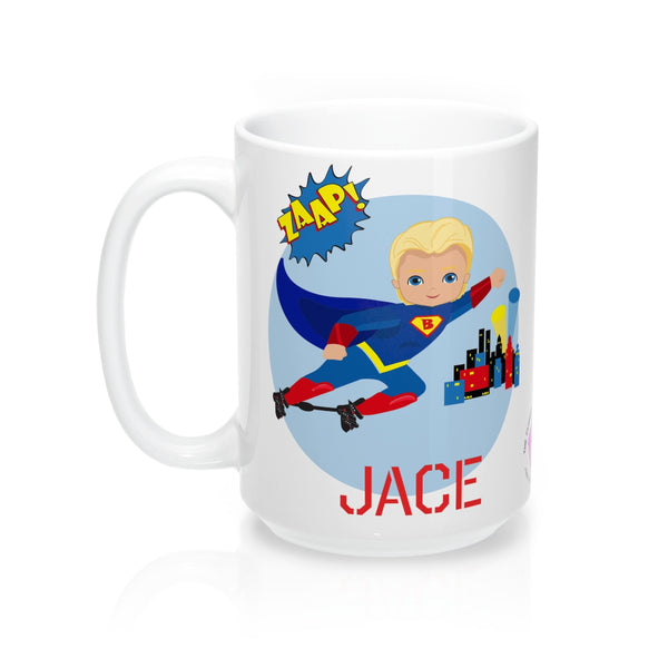 Superboy Boots & Bar - Blonde - Mug 15oz (Customize Me!)