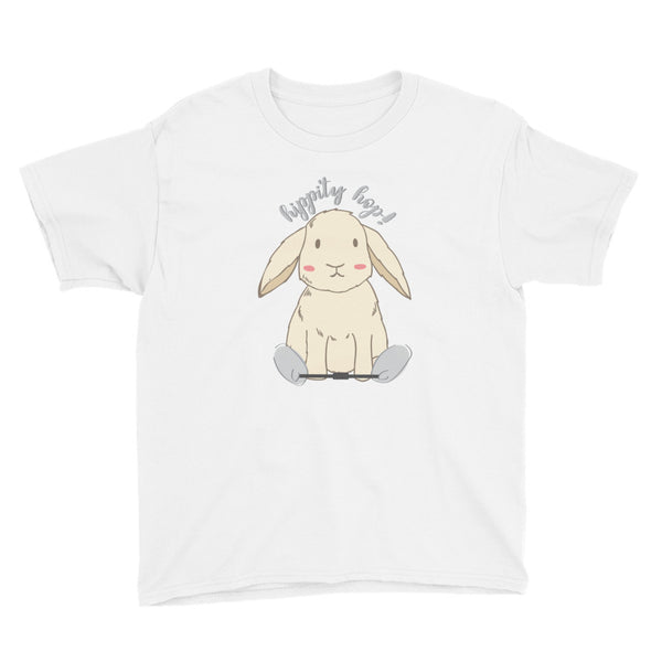 Hippity Hop Clubfoot Bunny - Spring - Clubfoot Animal Collection - Youth Short Sleeve T-Shirt