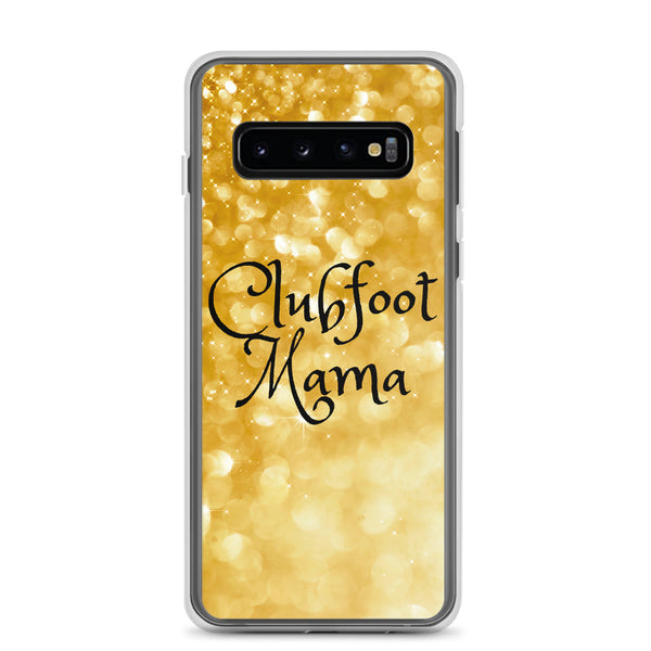 Clubfoot Mama - Gold Glitter - Samsung Case - Christmas 2019