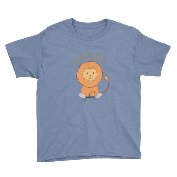 Lion Brave - Spring - Clubfoot Animal Collection Youth Short Sleeve T-Shirt