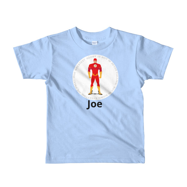 Superhero in a Flash  - Custom - Short sleeve kids t-shirt