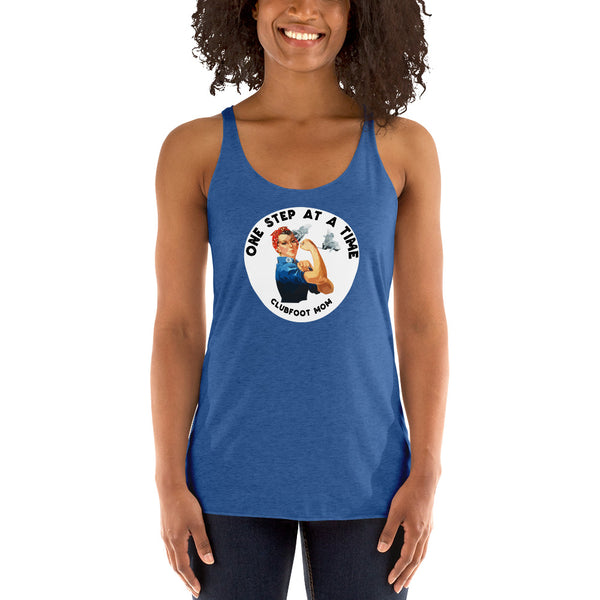 Rosie the Riveter Clubfoot Strong - Women's Racerback Tank