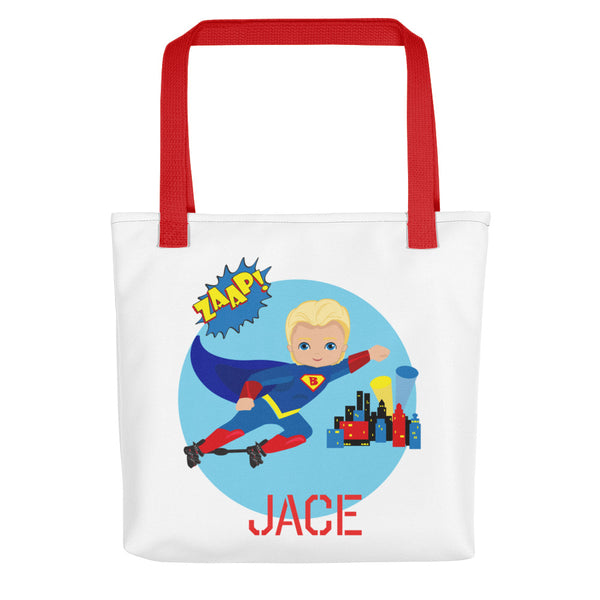 Superboy Boots & Bar - Blonde Hair | Tote bag | Customize Me!