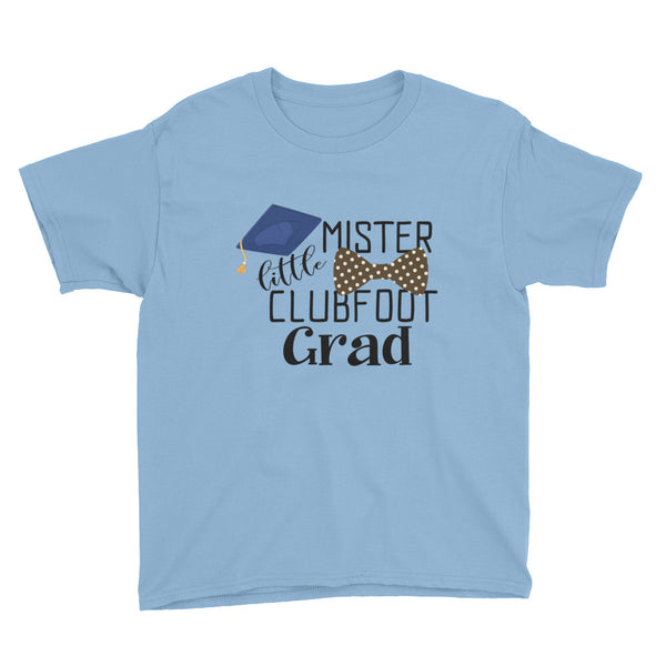 Little Mister Clubfoot Grad Brown Bow - Youth Short Sleeve T-Shirt