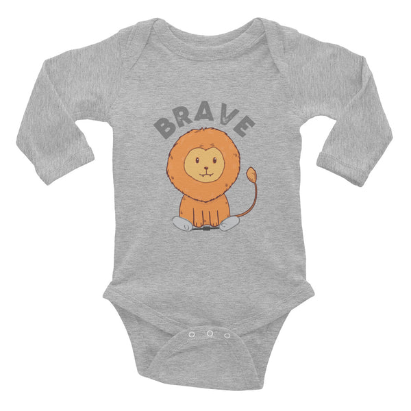 Lion Brave - Spring - Clubfoot Animal Collection - Infant Long Sleeve Bodysuit