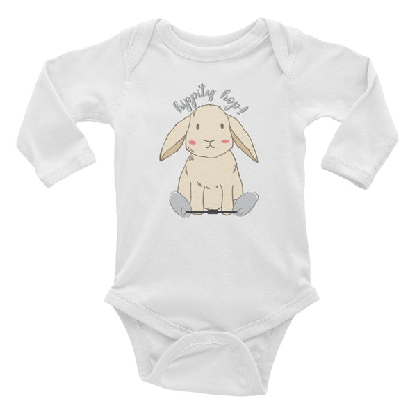 Hippity Hop Clubfoot Bunny - Spring -Clubfoot Animal Collection - Infant Long Sleeve Bodysuit