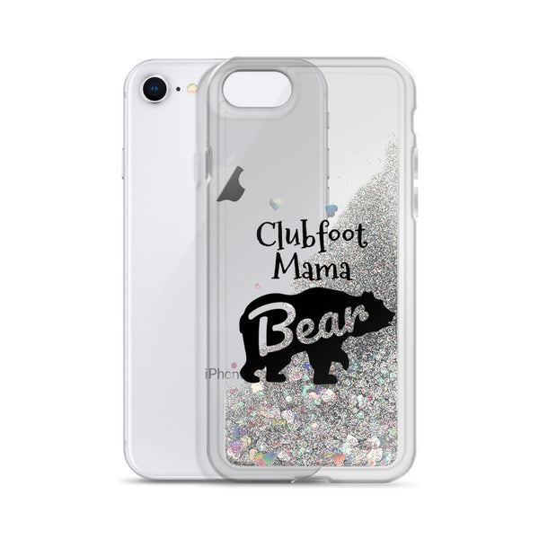 Clubfoot Mama Bear - Liquid Glitter Phone Case (Christmas)