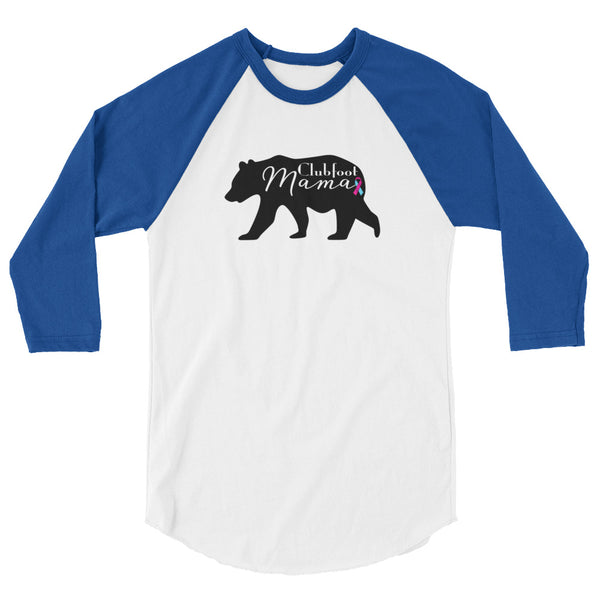 Clubfoot Mama Bear - 3/4 sleeve raglan shirt |