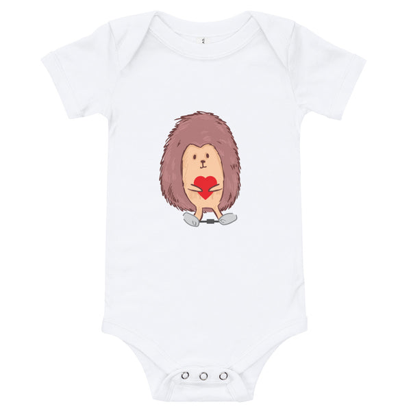 Hedgehog Clubfoot Cutie Love - Valentine's - Infant Long Sleeve Bodysuit