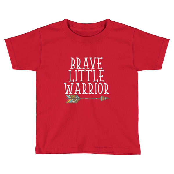 Brave Little Warrior - Kids Short Sleeve T-Shirt